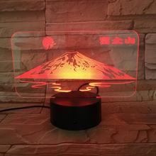 Famous scenic Janpan Mount Fuji USB 3D led night light Touch Sensor RGB Festival Gift decorative lights Desk lamp bedroom 3 day pass fuji rock festival 2017 niigata