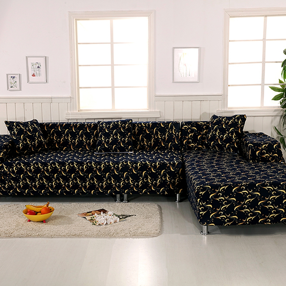 100% Polyester Black Corner Sofa Covers For Living Room 2pcs Cushion Covers  Multi Size