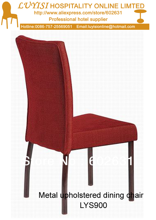 Upholstered Aluminum Dining Chair LUYISI900,stackable,high Density Foam,5pcs/carton,safe Package