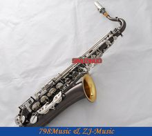 Professional Black Nickel C Melody sax saxophone Gold Bell Silver Key New Case