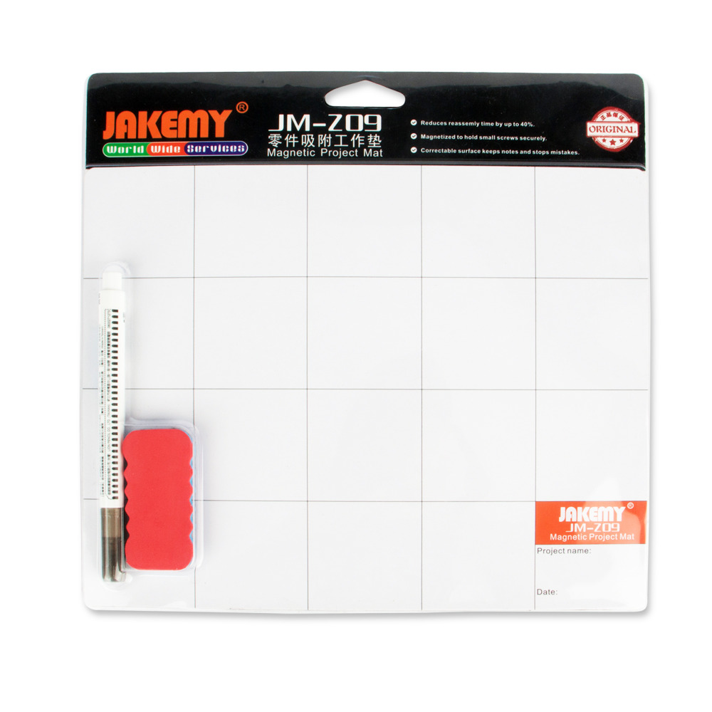 JAKEMY JM-Z09 Magnetic Project Mat Screw Work Pad with Marker Pen <font><b>Eraser</b></font> for <font><b>Cell</b></font> <font><b>Phone</b></font> Laptop Tablet iPhone Repair Tools Mat
