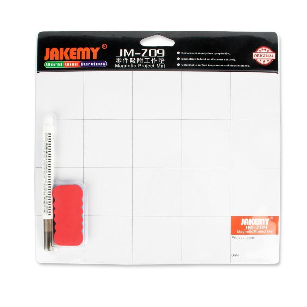JAKEMY JM-Z09 Magnetic Project <font><b>Mat</b></font> Screw Work Pad with Marker Pen Eraser for Cell <font><b>Phone</b></font> Laptop Tablet iPhone Repair Tools <font><b>Mat</b></font>