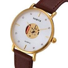Splendid Luxury Brand North Men Quartz Watches Leather Waterproof Casual Wrist watches for Man Sport relojes Outdoor Clock