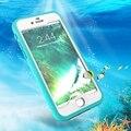 Kisscase mergulho submarino cases capa para iphone 7 7 plus tpu à prova de choque à prova d' água de natação ao ar livre phone case de plástico rígido