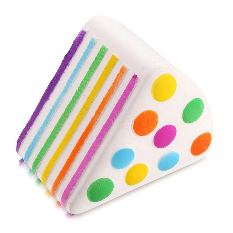 New Arrival Soft Rainbow Cake Squeeze Healing Fun Kid Stress Reliever Decor Stress Reliever Gift Decor Toy For Children