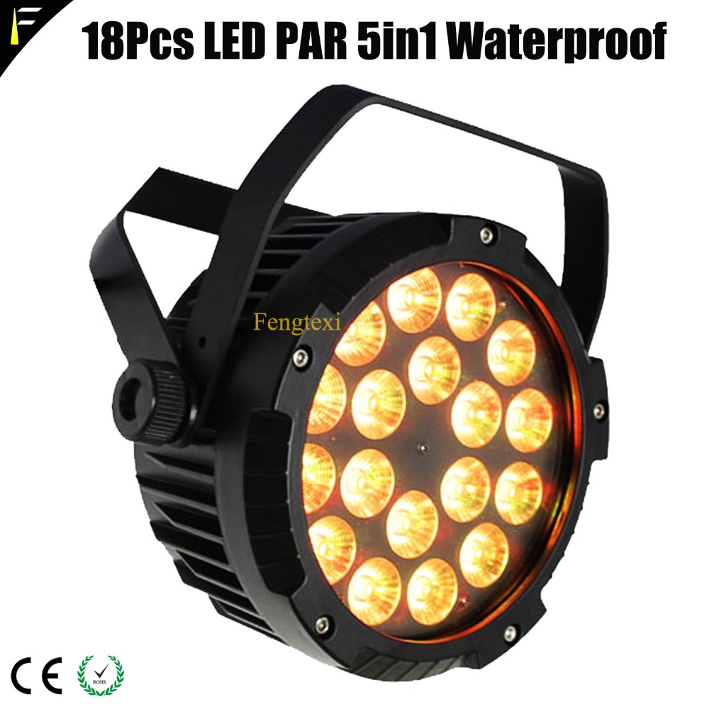 Popular 18pcs 10W RGBWA Flat Slim LED Par Lights Waterproof 4 Smooth 16bit Dimming Curves Stage Dj Outdoor LED Par Can Lighting chauvet dj slim par 56