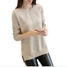 S-3XL Plus Size Sweaters Winter Women's O Neck Slim Pullovers Long Sleeve Knit Jumper Casual Wine Red Ladies Sweater Mujer