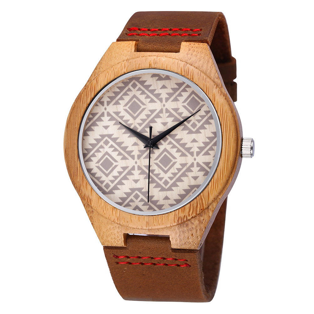 Men Gift Watch Men  Women's Watches Leather Strap Fashion Wooden Couple Gifts  Bamboo  Quartz  I Love You Clock 3773