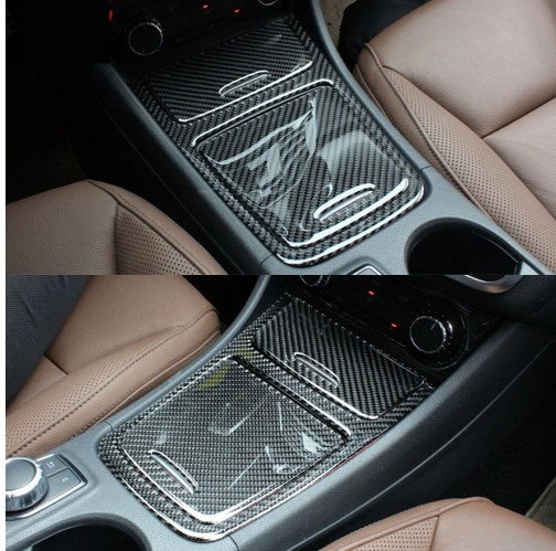 For Mercedes Benz A GLA CLA Class W176 X156 C117 A180 Interior Storage Box Cigarette Ashtray Cover Trim Carbon Fiber 2013 2016 in Car Stickers from Automobiles Motorcycles