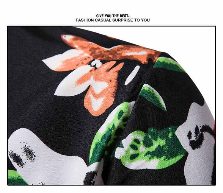 Летние мужские s с коротким рукавом пляжный Гавайские рубашки повседневные Цветочные мужские рубашки в цветах Плюс Размер Мужская одежда Уличная Повседневная рубашка
