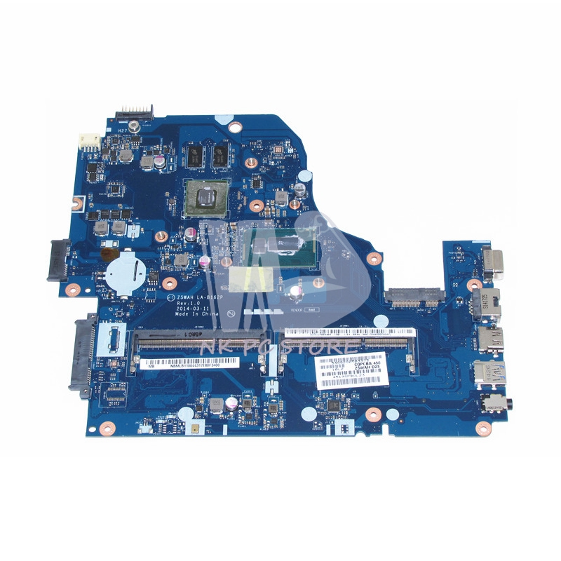 NOKOTION NBMLB11004 NB.MLB11.004 For Acer aspire E5-571 E5-571G Laptop Motherboard Z5WAH LA-B162P I5-4210U CPU 820M Video Card wzsm original usb board with cable for acer aspire e5 521 e5 571 usb board ls b162p tested well