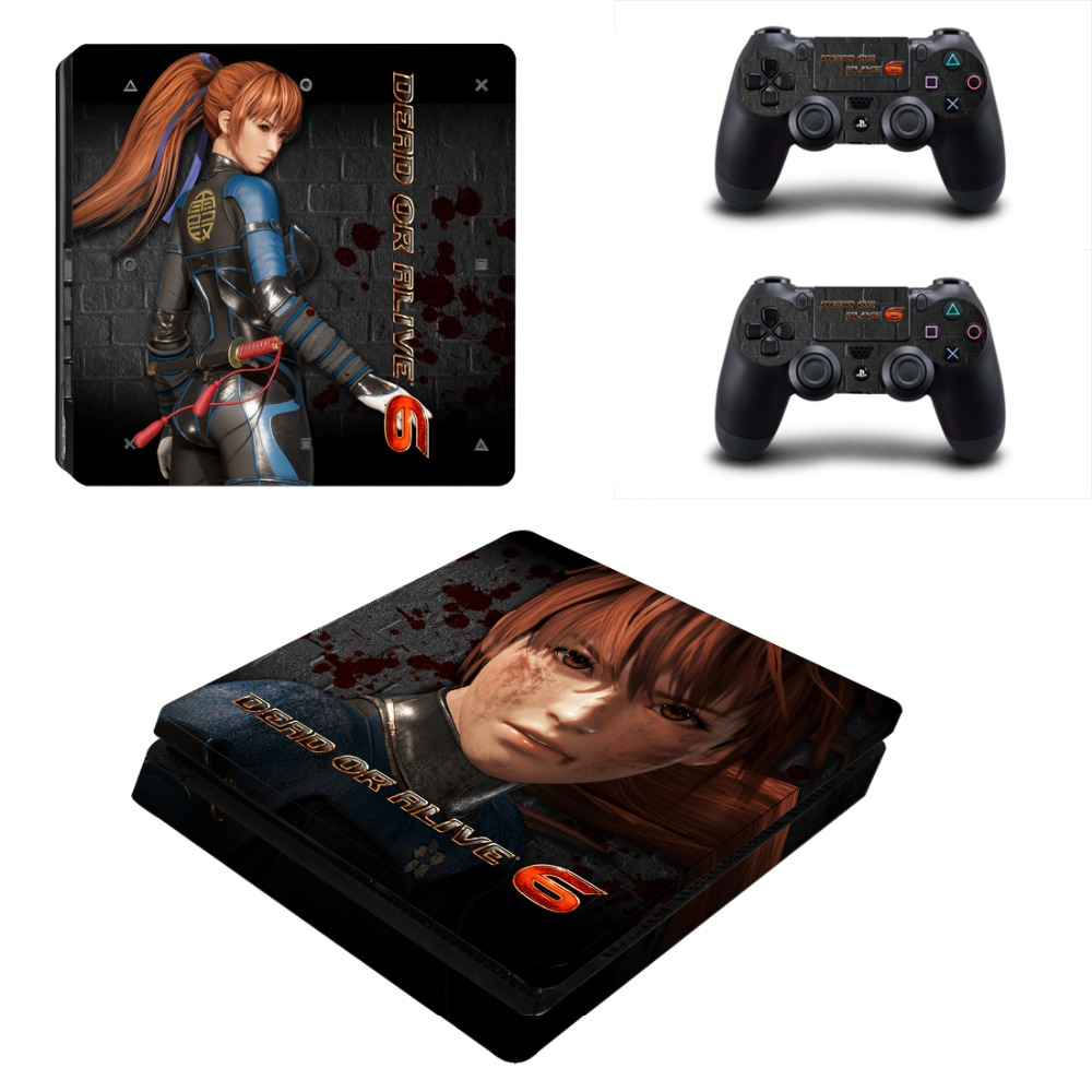 Game Dead or Alive 6 PS4 Slim Skin Sticker Decal Vinyl for Playstation 4 Console and 2 Controllers PS4 Slim Skin Sticker