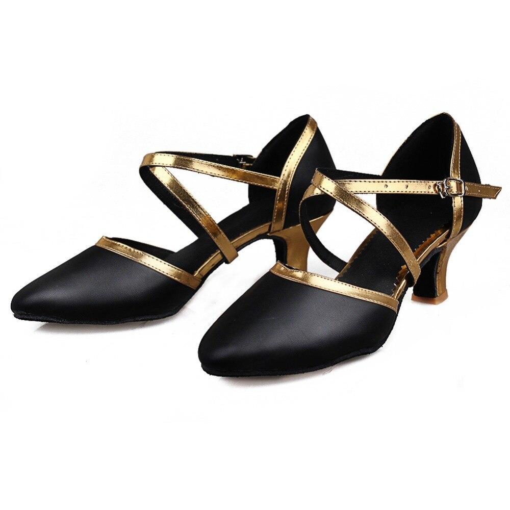 Free Shipping Gold Latin Dance Shoes Women Ballroom Zapatos Salsa Mujer Zapatos De Baile Latino Mujer 515