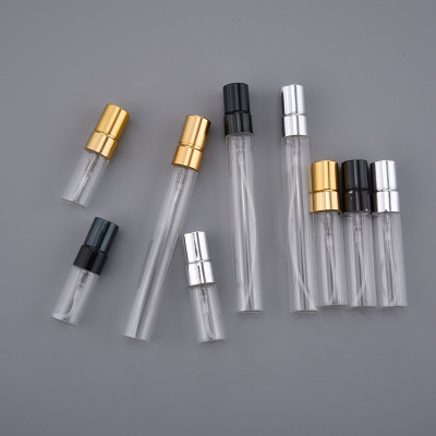 DHL FREE 500PCS LOT 3ML 5ML 10ML Glass Refillable Perfume Bottle With Aluminum Atomizer Empty Parfum