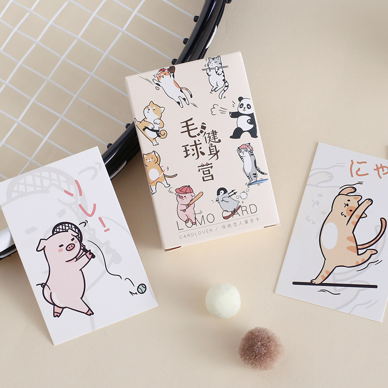 28 Sheets/Set Sports Animals Lomo Card Mini Paper Postcard/Greeting Card/Birthday Gift Card Message Card