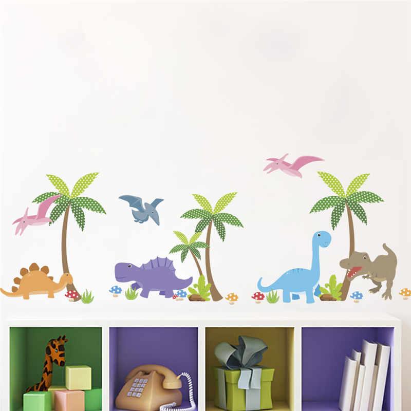 Креативные 3d Динозавры сломанное отверстие настенные наклейки для детской комнаты украшения дома Diy Юрского периода животные; настенная роспись ПВХ наклейки