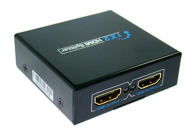 1 en 2 ahueca hacia fuera V1.4 conmutador KVM del HDMI Splitter 3D 1080 P para PS3 / PC / HD Set Top Box / reproductor de DVD para controlar la