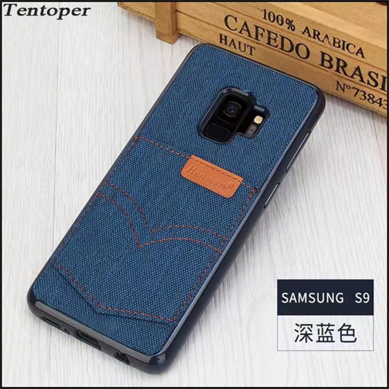For iPhone 7 6 6S Plus Case Vintage Denim Jeans Soft Back Cover For Samsung Note 8 S8 S9 Plus For iphone X 8 8 Plus Phone Cases