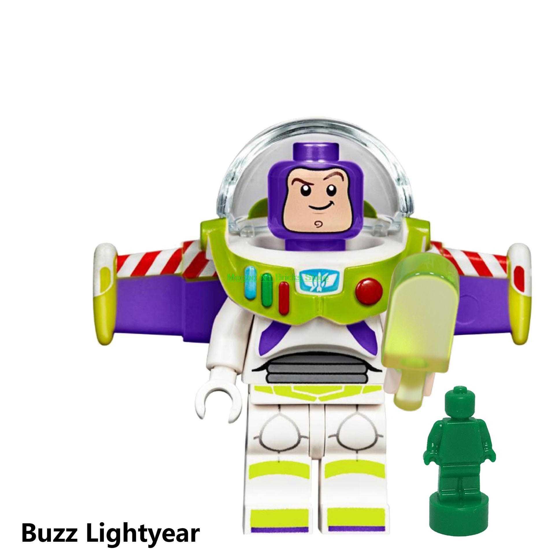 Untuk Mainan Cerita Angka Buzz Lightyear Woody Forky Gremlins Alat Stitch Jessie Alien dengan Elliot Blok Bangunan Teman-teman Batu Bata