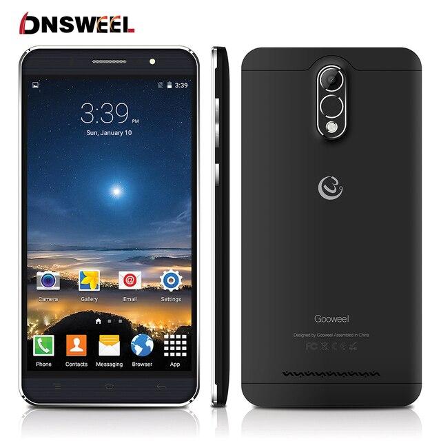 Новый Gooweel M3 сотовый телефон 6.0 дюймов IPS экран MTK6580 quad core мобильный телефон 8.0MP GPS 1 ГБ RAM 8 ГБ ROM 3 Г смартфон Бесплатный чехол