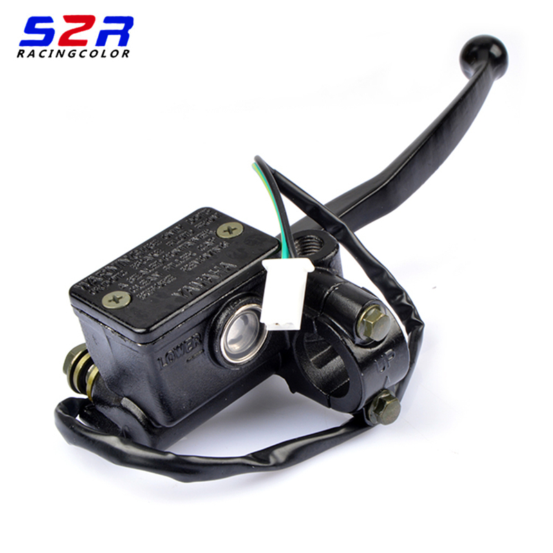 motorcycle YBR125 handle brake fluid caliper master for Yamaha 125cc YBR 125 front brake lever pump hydraulic pump cylinder assy bande réfléchissante scooter orange pour fourche