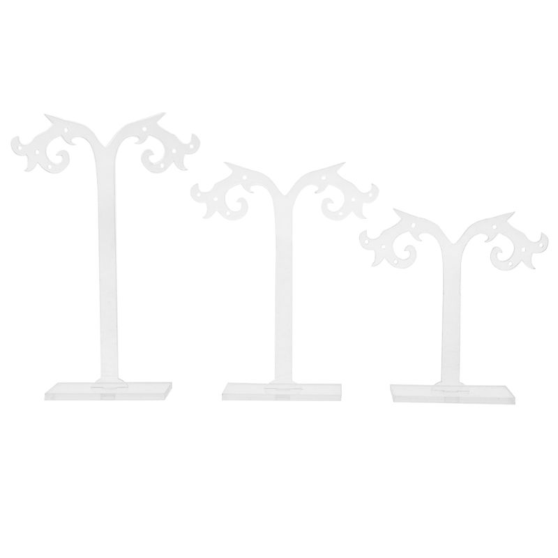 1 Set Earrings Shelf Display Rack Transparent Acrylic Showcase Jewelry Stand Holder Gifts Tree Shape Organizer For Boutique