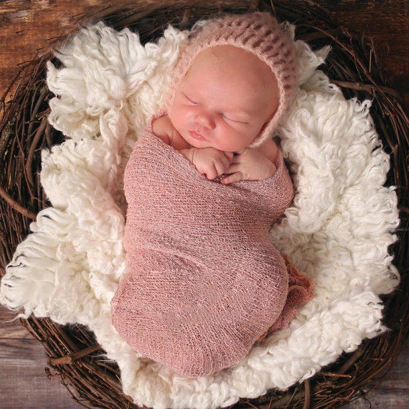 Baby Photography Props Blanket Wraps Stretch Knit Wrap Newborn Photo Wraps