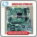 100% testado e trabalho motherboard para hp 696233-001 670960-001 h-joshua-h61-uatx
