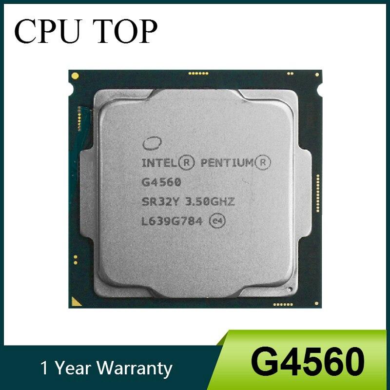 Процессор Intel Pentium G4560 3 Мб кэш-памяти, 3,50 ГГц LGA1151 двухъядерный процессор для настольного ПК