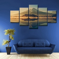 Hot Famous Mountains In Japan Mount Fuji Beautiful Landscape Scene Picture Painting Print On Canvas Wall