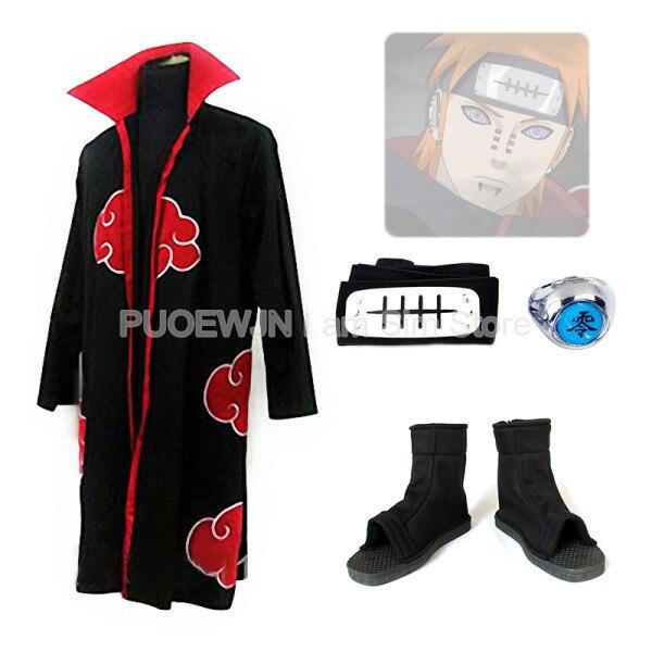 b80e8f4657 Low Cost Naruto Akatsuki Pain Cosplay Costume