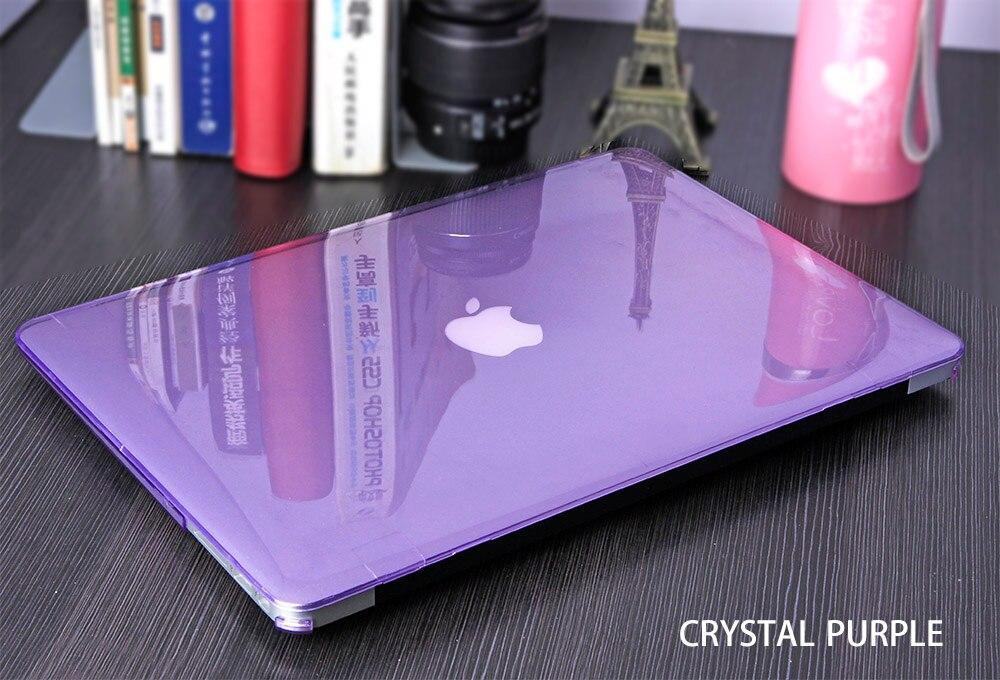 JUNWER CrystalMatte Transparent Case For Apple Macbook Air Pro Retina 11 12 13.3 15 For Macbook Air 13 A1932 Laptop Case Cover 16