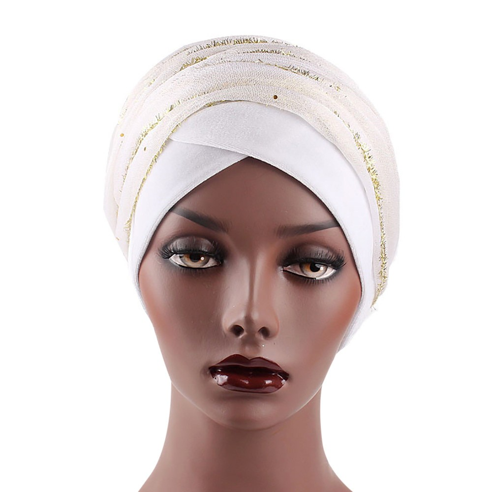 #4 DROPSHIP 2018 NEW HOT Fashion Women Ladies India Africa Muslim Stretch Turban Hat gauze Hair Head Scarf Wrap Cap Freeship