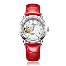 Montres femmes Automático hombres Reloj Mecánico Esquelético de Cuero mujer Reloj mujeres Reloj de cuarzo resistente al agua de Acero Inoxidable completa