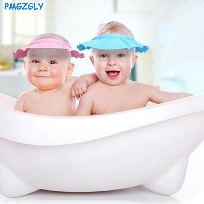 Children Shampoo Soft Baby Bath Shower Cap Shampooing For Kids Head To Baby Shower Hat Child Bathing Cap Bath Visor Adjustable
