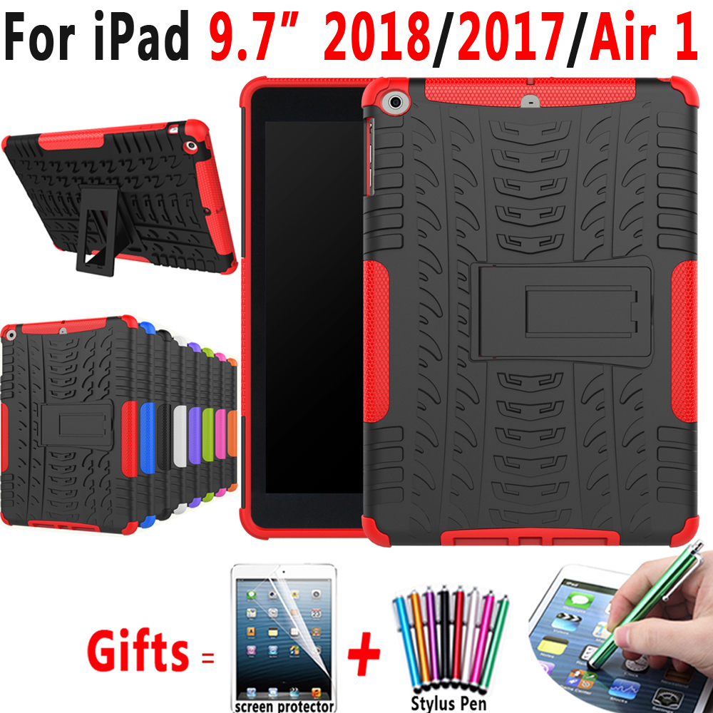 Armor Shockproof Silicon Case For Apple IPad 9.7  2017 2018 5th 6th Generation Air 1 5 A1822 A1823 A1893 Cover Coque Funda