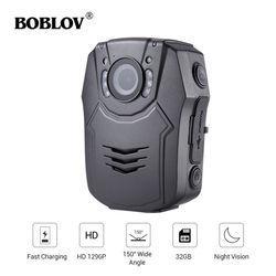 BOBLOV PD50 Body Camera Policial HD 1296 P IR Nachtzicht Beveiliging Pocket Politie Camera 32 GB Video Recorder DVR security Guard