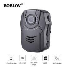 BOBLOV PD50 Body Camera Policial HD 1296P IR Night Vision Security Pocket Police Camera 32/64B Video Recorder DVR Security Guard