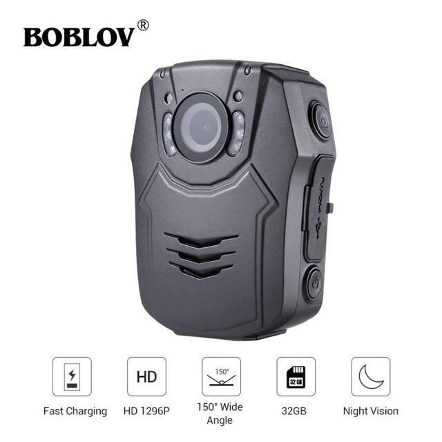 BOBLOV cámara de seguridad corporal PD50 HD 1296P IR, cámara de policía de bolsillo con visión nocturna, grabador de vídeo DVR, guardia de seguridad