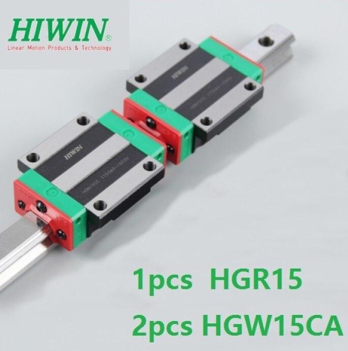 1 stücke Original Neue Hiwin linear schiene führen HGR15 1000mm/1100mm/1200mm/1300mm /1400mm/1500mm + 2 stücke HGW15CA Flansch blöcke für cnc-in Linearführungen aus Heimwerkerbedarf bei AliExpress - 11.11_Doppel-11Tag der Singles 1