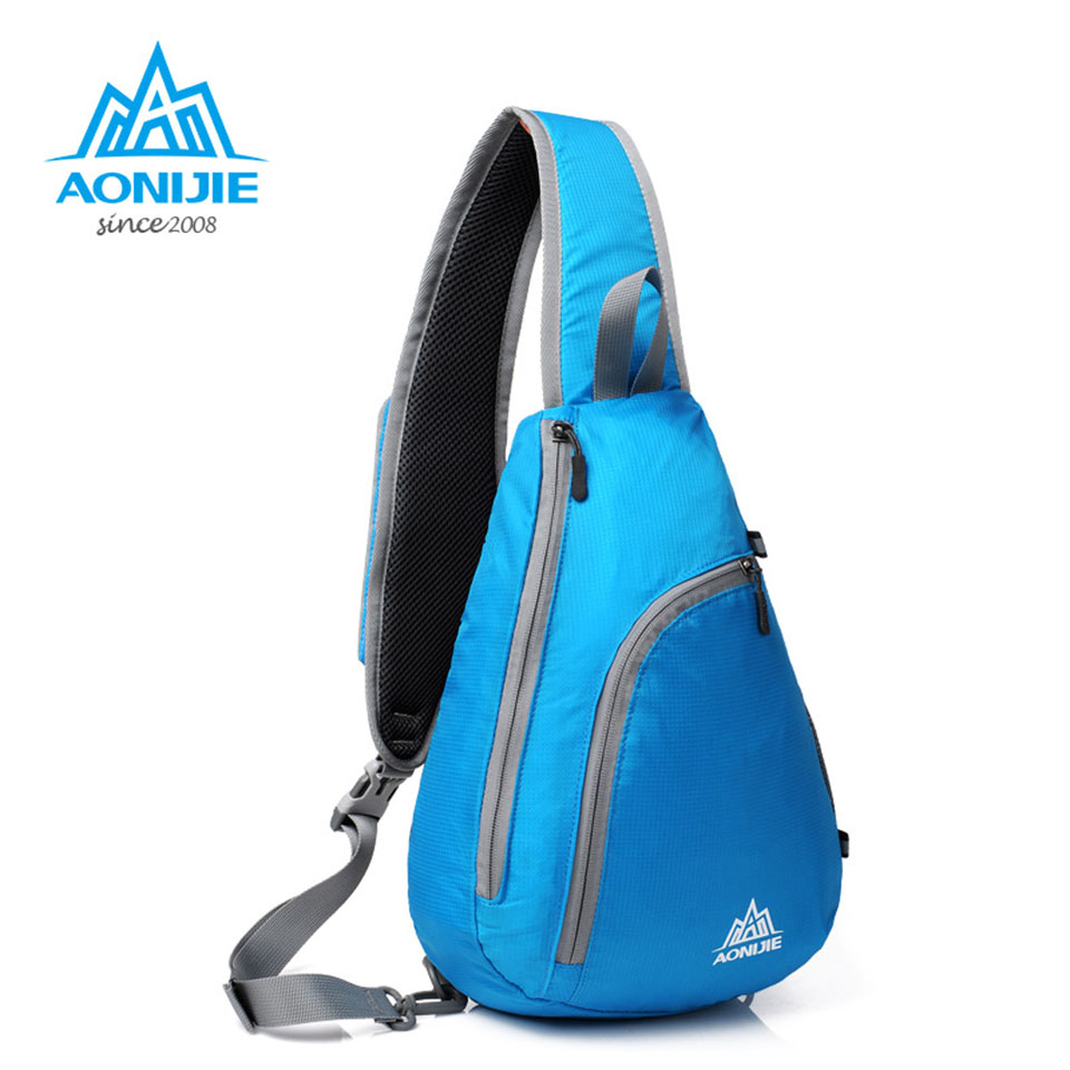 AONIJIE Men Women Chest Bag Waterproof Nylon Outdoor Sports Hiking Running Gym Bag Shoulder Bag for Bicycle Camping Bookbag 26l functional women nylon sports fitness bag professional shoes compartment gym outdoor shoulder bag men hiking training bag