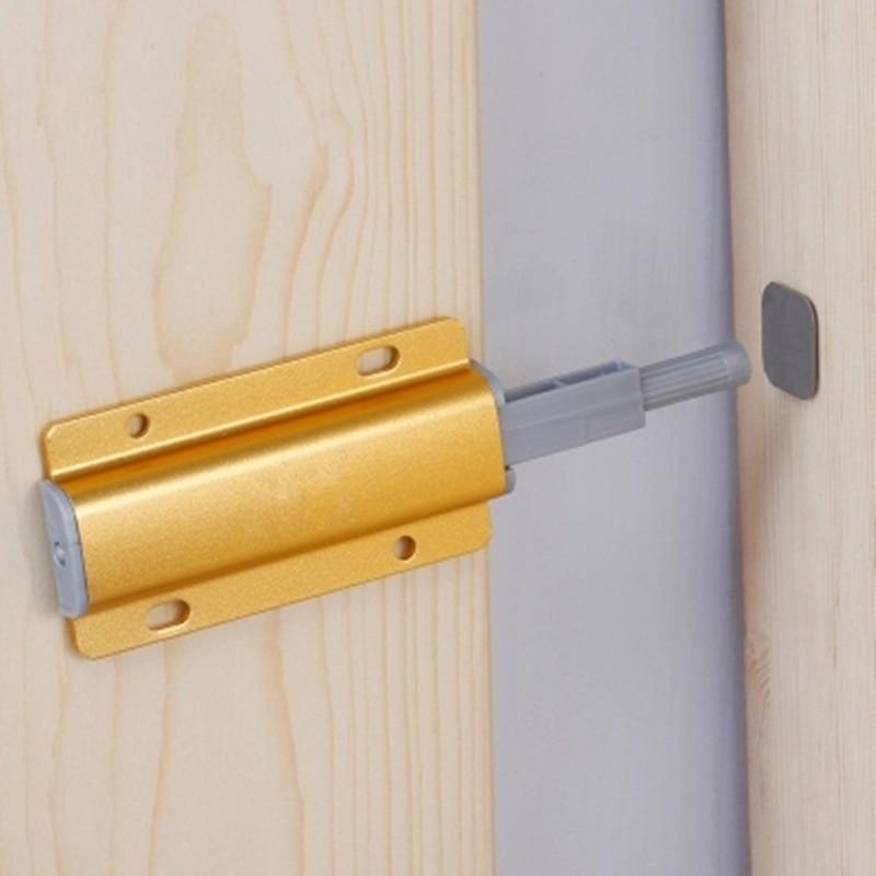US $4.36 10% OFF|Kitchen Cabinet Catches Door Stop Damper Buffers Quiet  Close door closer hydraulic automatic door lock Furniture Hardware-in Door  ...