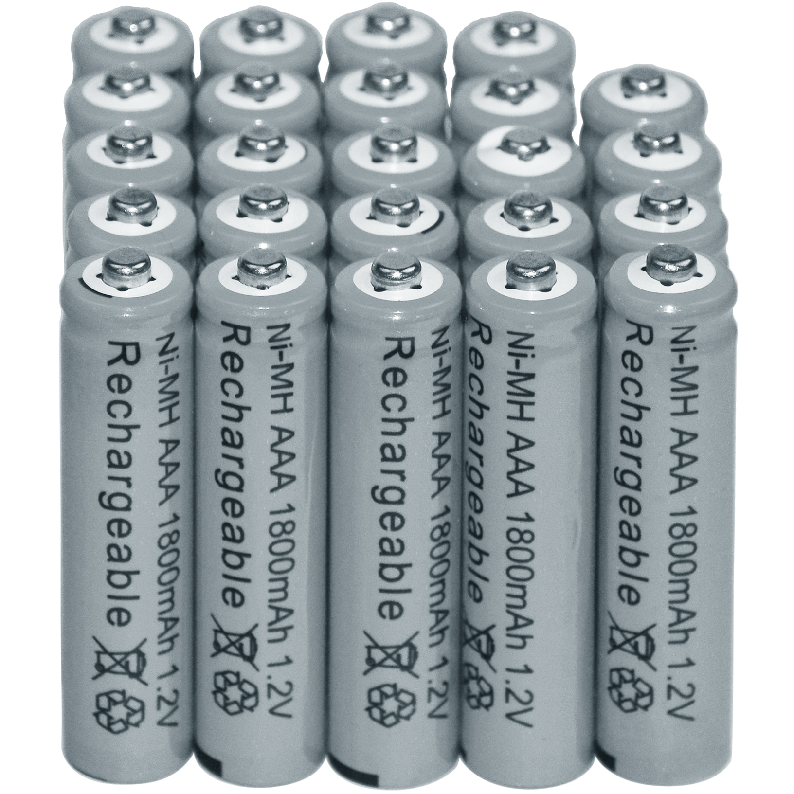 6/12/24/32/40pcs AAA 1800mAh 1.2V Ni-MH Rechargeable battery 3A Grey Cell MP3 RC Toys