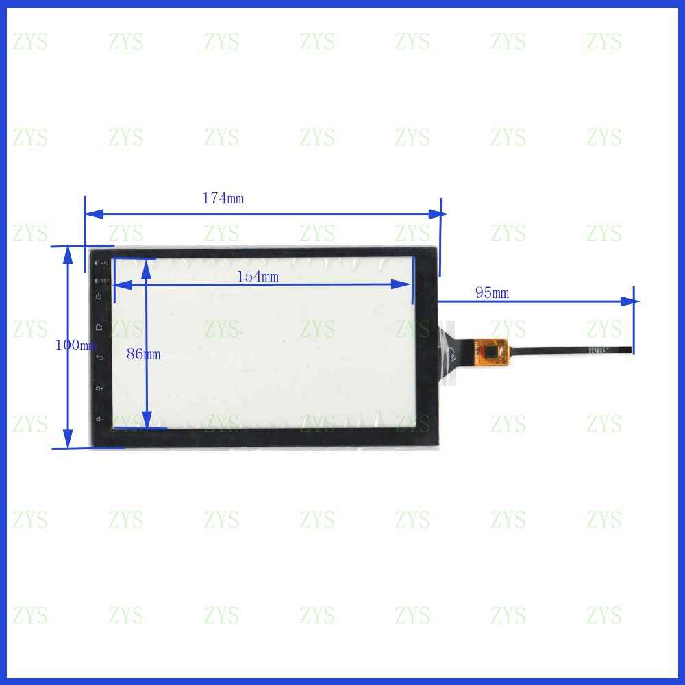 ZhiYuSun para Android (hoxiao) para coche nuevo 175mm * 100mm pantalla capacitiva para tble compatible PG71760B01-FPC XY-PG700049-FPC