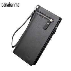 Banabanma Для мужчин бумажник мальчиков прочная искусственная кожа Кредитная карта кнопки ручной принять Кошелек визитница 2017 мода новый