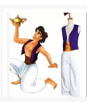 S-XXL Adult Aladdin Lamp Prince Aladdin Costume Halloween Anime Cosplay Fancy Dress Adam prince Costumes