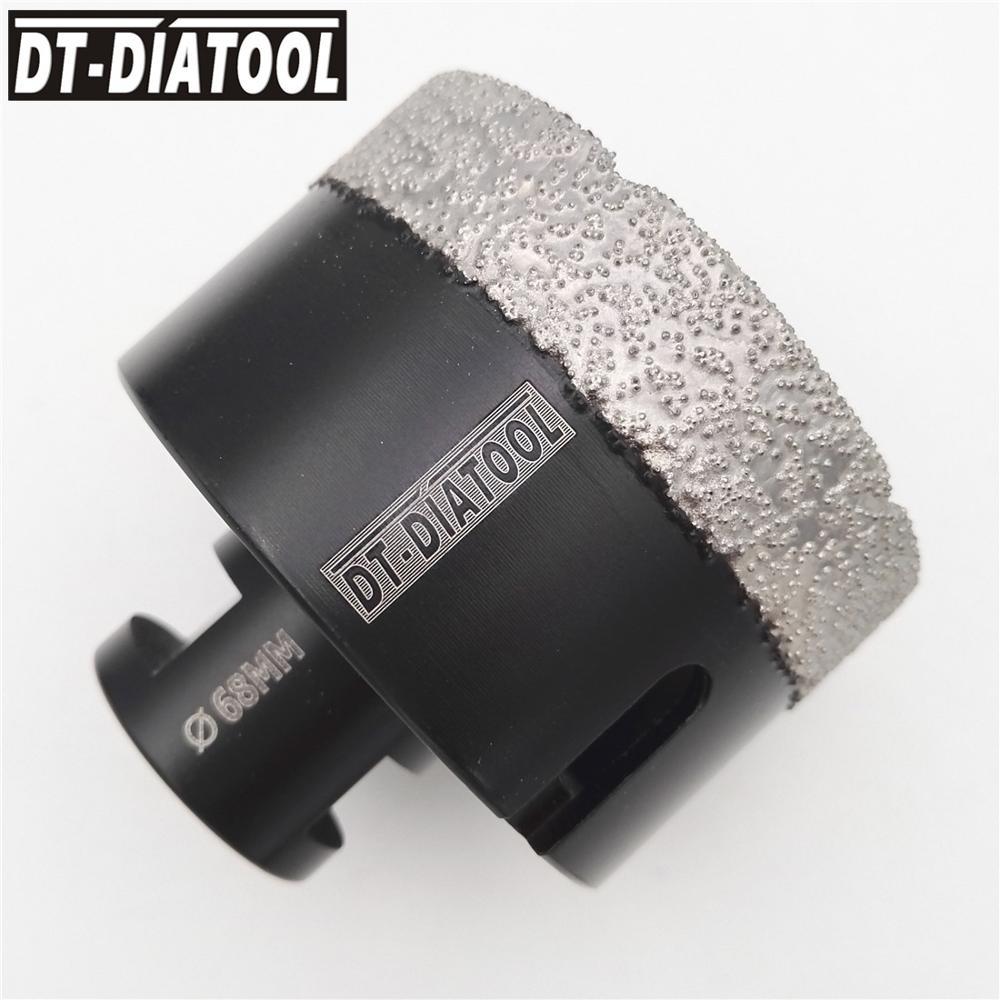 Купить с кэшбэком DT-DIATOOL 1pc Dry Vacuum Brazed Diamond Drilling Core Bits Ceramic Tile Hole Saw Granite Marble Drill Bits with M14 thread