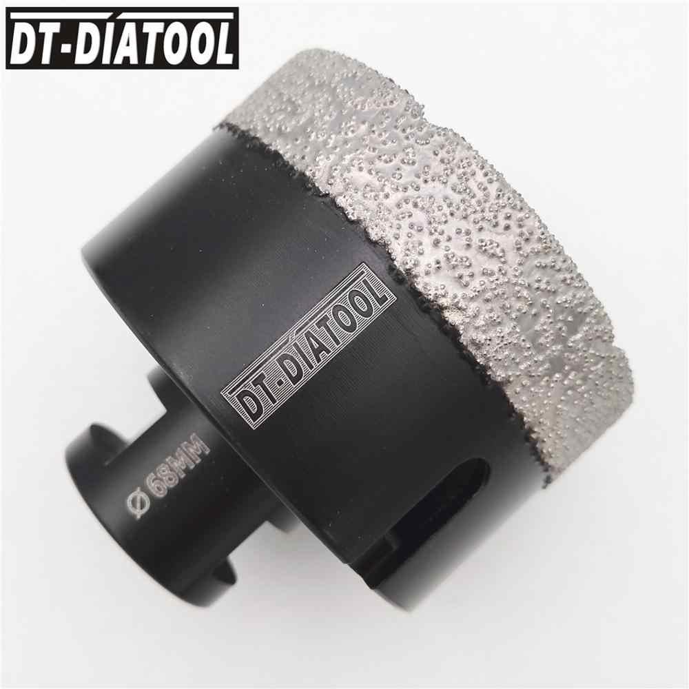 DT-DIATOOL 1pc Secco Vuoto Brasato Del Diamante di Perforazione Core Bit Foro di Piastrelle di Ceramica Seghe Granito marmo punte da trapano con M14 filo