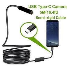 Type c systemem Android, kamera endoskopowa usb 7.0mm sztywny kabel PC Android endoskop do telefonu rura typu c endoskop inspekcja Mini kamera