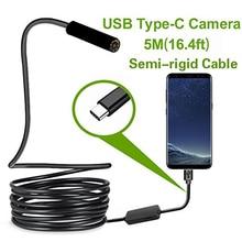 タイプ c の android USB 内視鏡カメラ 7.0 ミリメートルハードケーブル Pc アンドロイド電話内視鏡管タイプ C 内視鏡検査ミニカメラ